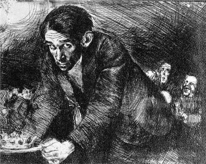 Бруно Шульц «Автопортрет», 1920-22