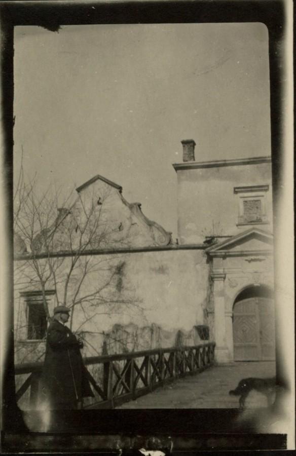 Місток Свірзького замку. Фото 1915 року
