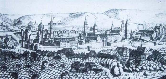 Панорама Львова 1772 р. гравюра Франсуа Пернера