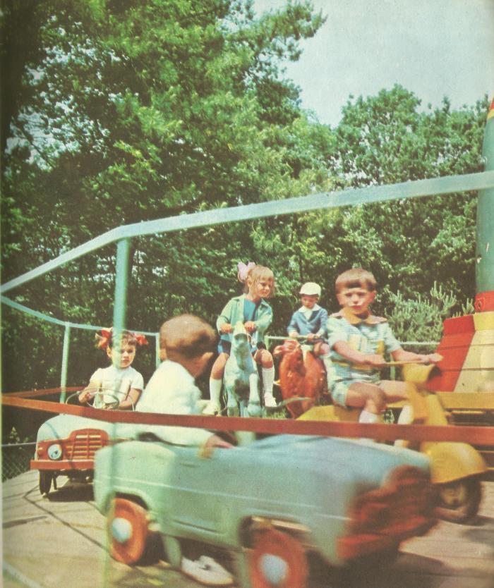 Дитячі каруселі у Стрийському парку
