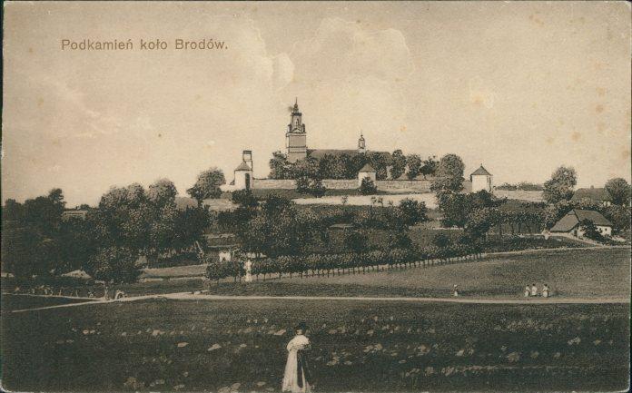 Сади в підніжжі Підкамінського монастиря. Фото поч. 20 ст.