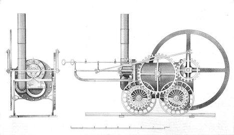 Перший паровоз в світі (джерело фото https://fr.wikipedia.org)