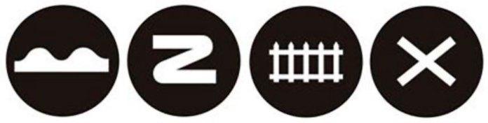 """Єдина система дорожньої сигналізації розроблена затверджена Міжнародною конвенцією 1909 р. (""""Нерівна дорога"""", """"круті повороти"""", """"залізничний переїзд"""" і """"пересічення доріг"""".) Джерело http://biketowork.org.ua/history-of-the-sda.html"""