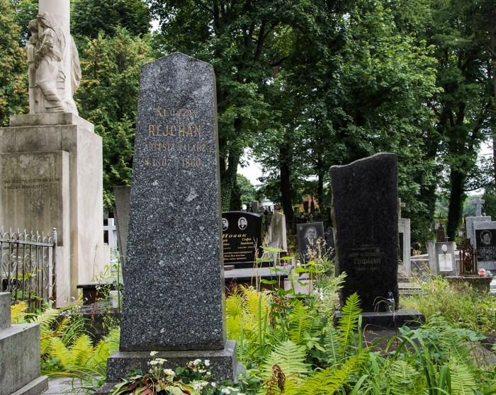 Могила Алоїзія Рейхана на Личаківському кладовищі