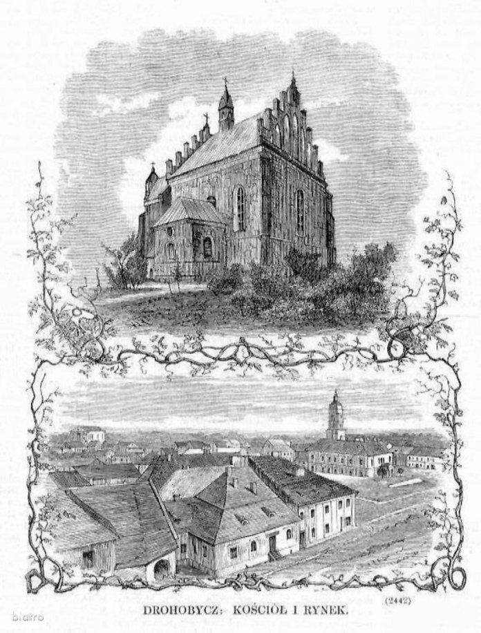 Ескізи парафіяльного костелу в Дрогобичі.