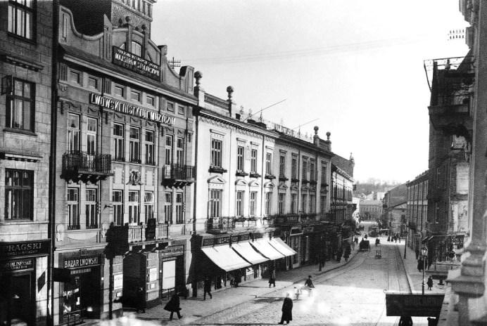 Вулиця Панська (тепер частина вул. І. Франка) на поч. ХХ ст.