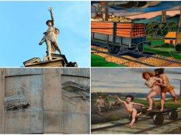 Залізничні мотиви у львівському мистецтві, або де у Львові зображені паровози