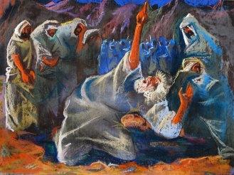 Робота з експозиції виставки Євгена Безніска «Іван Франко. Мойсей»