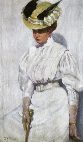 Олена Кульчицька. Портрет сестри в білому, 1912р.