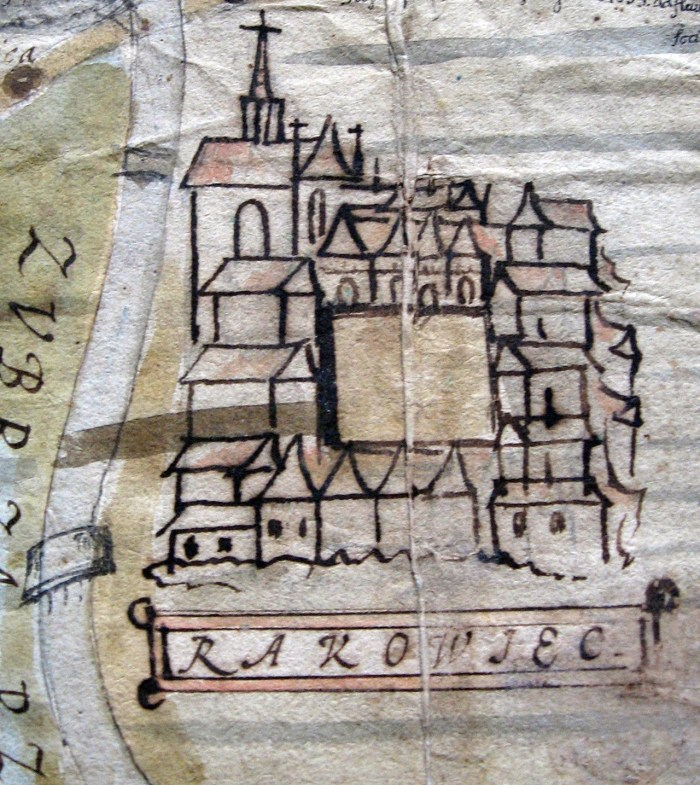 Містечко Раковець на карті 1744р