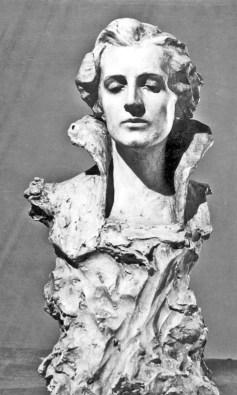 Бюст дівчини («Задумана»), 1905 рік. Тонований гіпс. Львівська галерея мистецтв