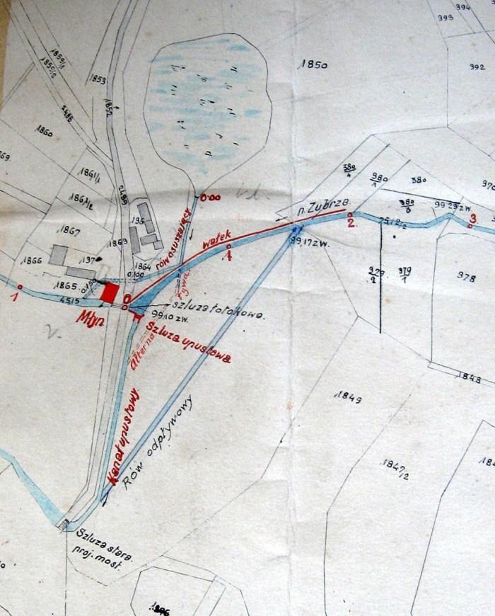 План- розташування млина у Вовкові