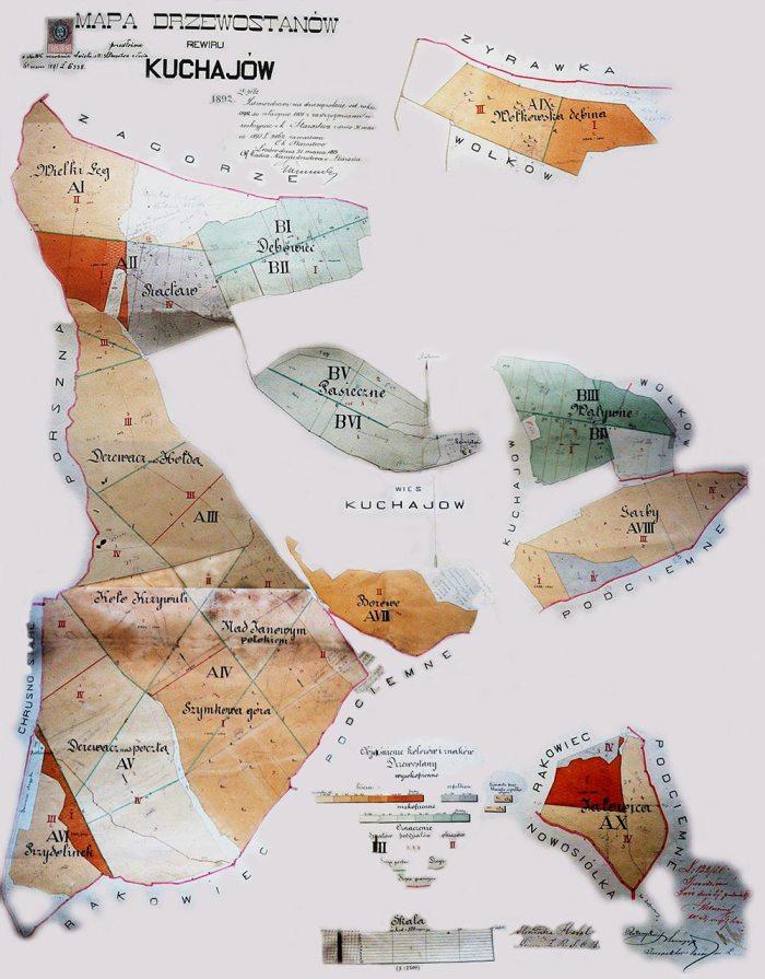 Карта лісового масиву Кугаїв