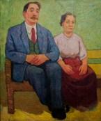 """Леопольд Левицький """"Мої батьки"""" (полотно, олія) 1969"""