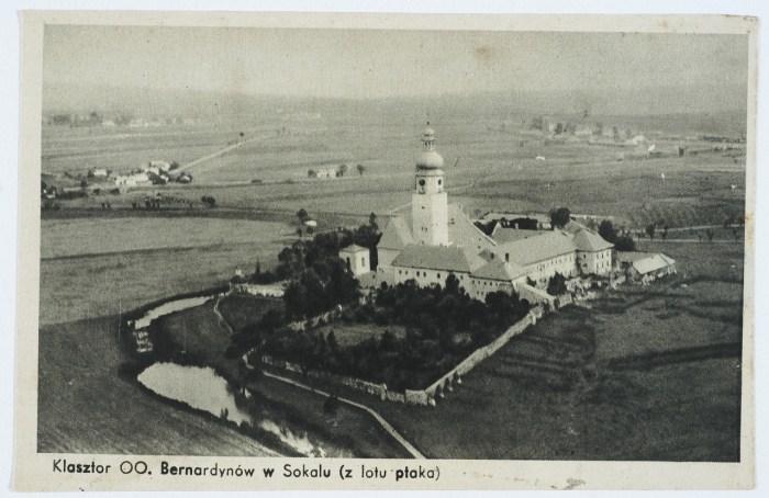 Сокаль, вид згори на монастир Бернардинів. Фото 1920 року