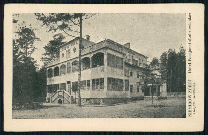 """Немирів, готель-пансіонат """"Лобзовянка"""". Фото 1925 року"""