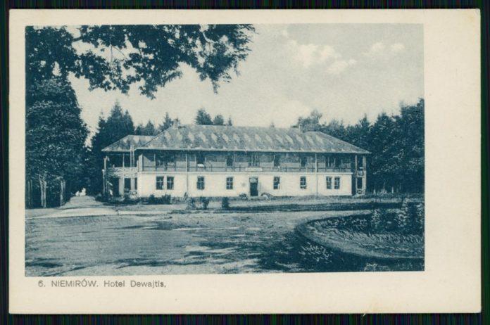 """Немирів, готель """"Девайтіс"""". Фото 1923-1926 рр."""