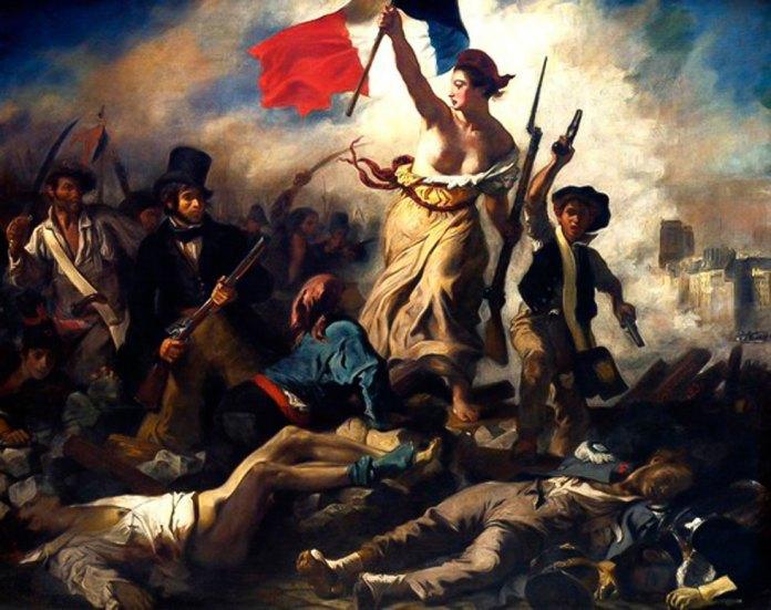 """""""Свобода, що веде народ"""". Картина Ежена Делакруа. Лувр"""