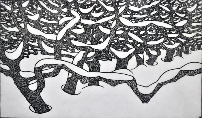 """""""Зимовий пейзаж"""" з Білого Дому. Фото з http://photo-lviv.in.ua"""