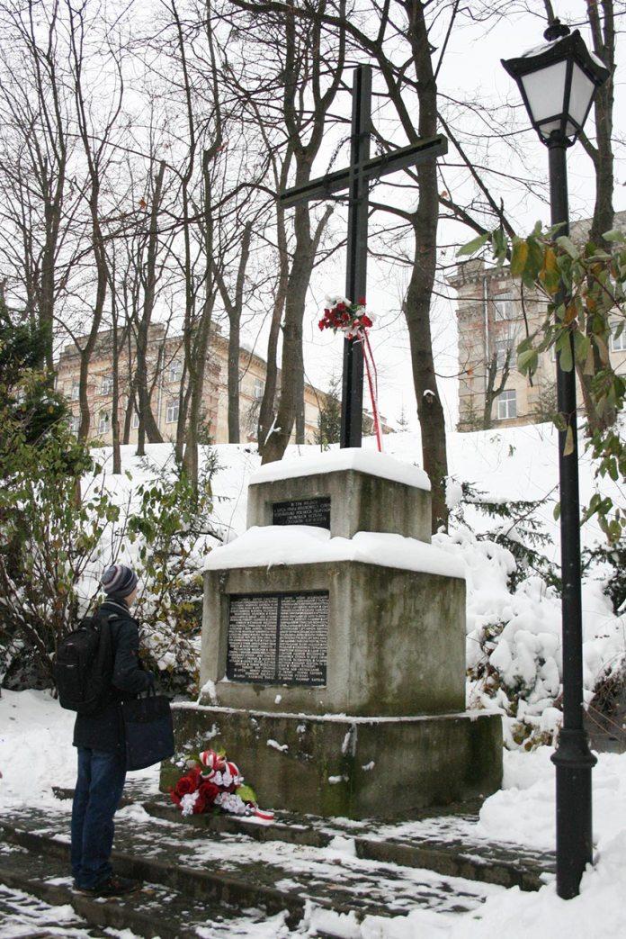 Пам'ятний хрест загиблим професорам. Фото: Анастасія Нерознак