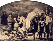 Артур Ґроттґер. Цикл «Війна», картина «Зрада і покарання», 1866-1867 рр.