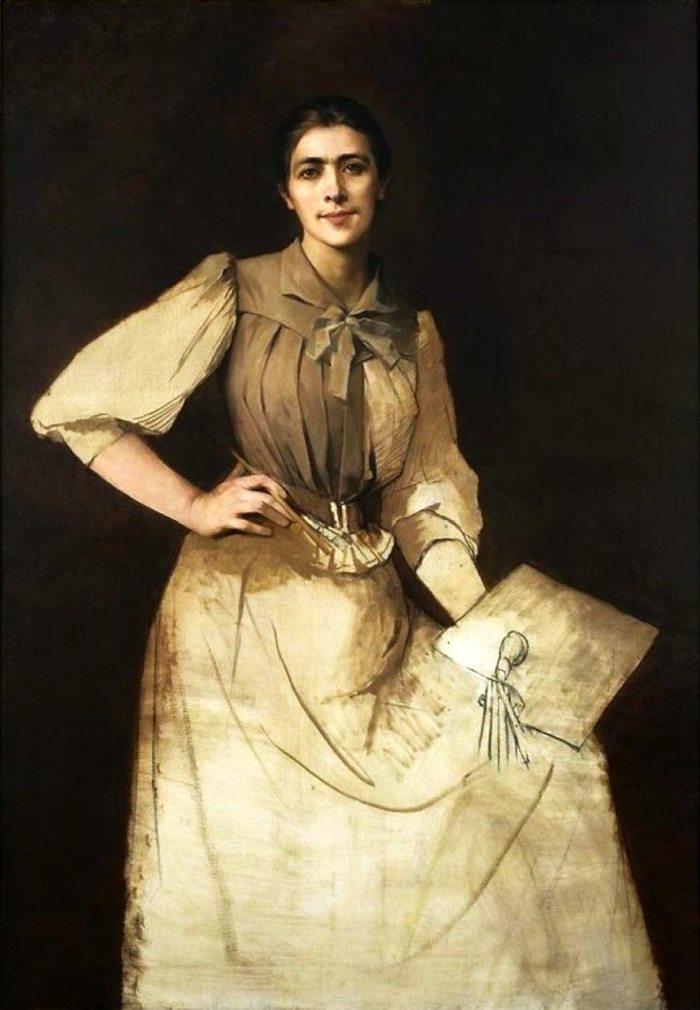 Анна Білінська, автопортрет, 1892 рік