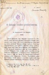 Niementowski St. «O kwasie o-nitro-p-toluylowym»