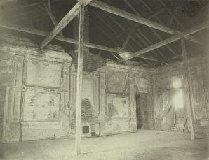 Зала аудієнцій в Жовківському замку. Фото 1892 року