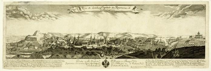 Панорама Львова Пернера, 1772 р.