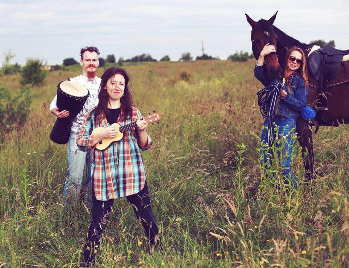 Зйомки кліпу арт-фольк гурту Troye Zillia під назвою. «Пісня щасливих людей» Фото: Ігор Машталєр