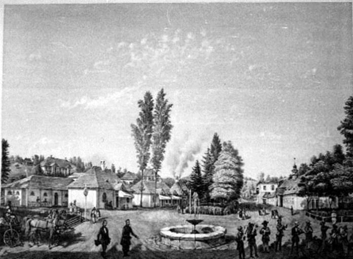 Трускавець. Центр курорту, А. Тітц, 1854 р.