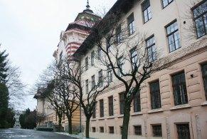 Один із корпусів Українського державного лісотехнічного університету, збудований на початку минулого століття у стилі гуцульської сецесії.