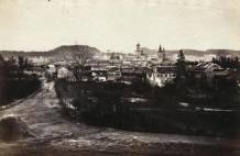 Вигляд з Єзуїтського парку на вулицю Маєрівську (Січ.Стрільців). Фото 1861-1869 рр.