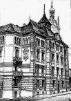 Будинок товариства «Дністер», малюнок невідомого автора