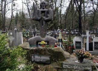 Пам'ятник Богдану Ігору Антоничу на його могилі. Фото: Ксенія Янко