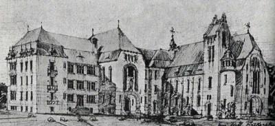 Ескіз Реколекційного дому і костелу, 1906 р.