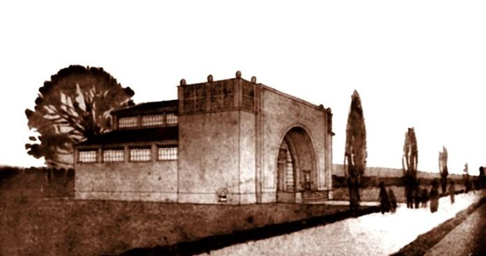 Павільйон нафтової промисловості на Східних торгах, 1924 р. Серед авторів цього проекту був Мар'ян Нікодемович