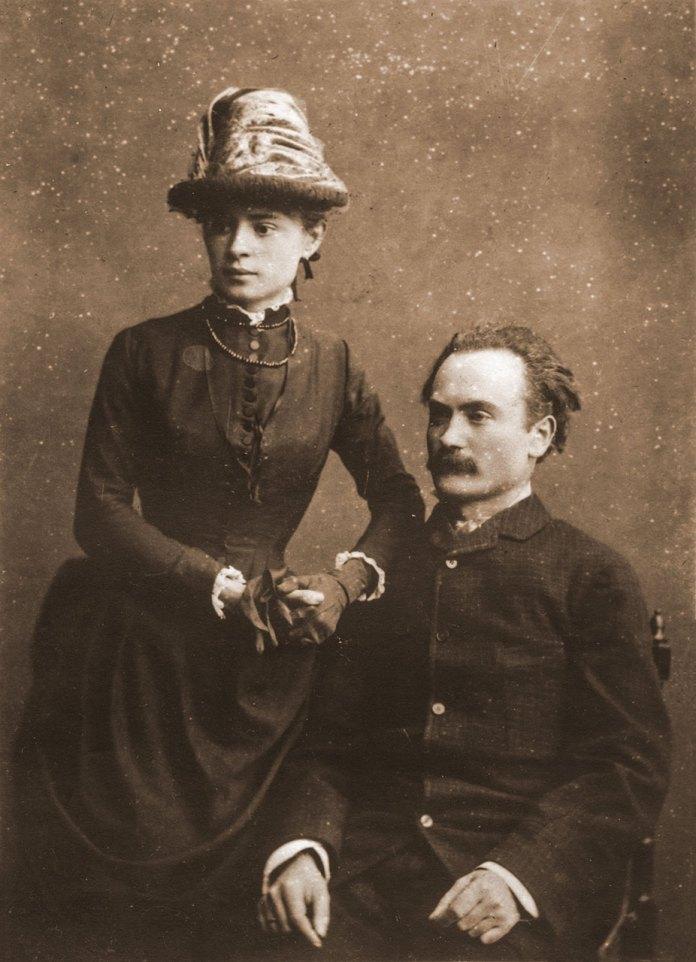 Іван Франко з дружиною Ольгою з Хоружинських у день шлюбу. Київ, 1886 р.