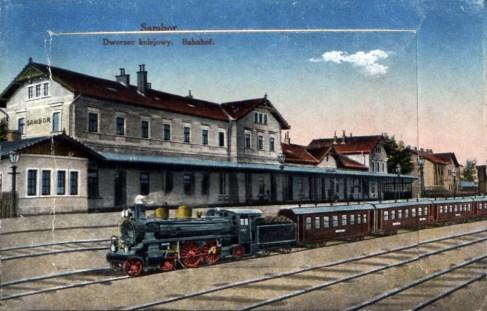 Вокзал у Самборові, 1912 р.