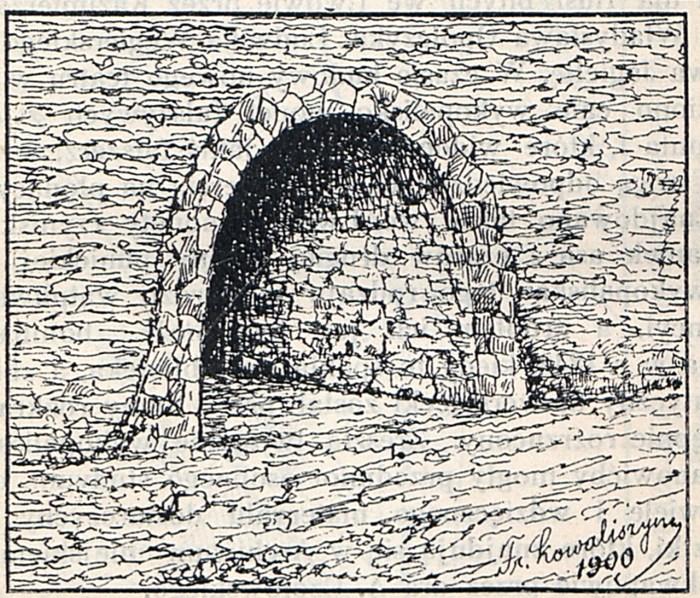 Підземний хід до Високого Замку. Рисунок Ф. Ковалишина, 1900 р.