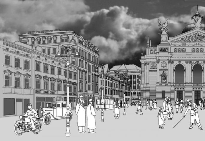 """""""Проспект Свободи 1938"""" Андре ван дер Венден. Фото http://lvivexpres.com"""
