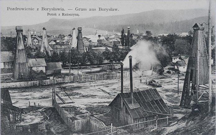 Нафтові вишки в Бориславі, 1911 рік