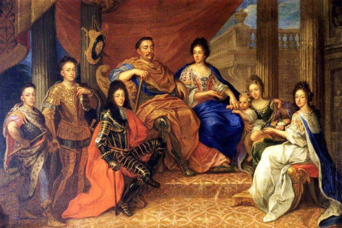 Ян III Собеський з родиною. Придворний художник, 1693 рік