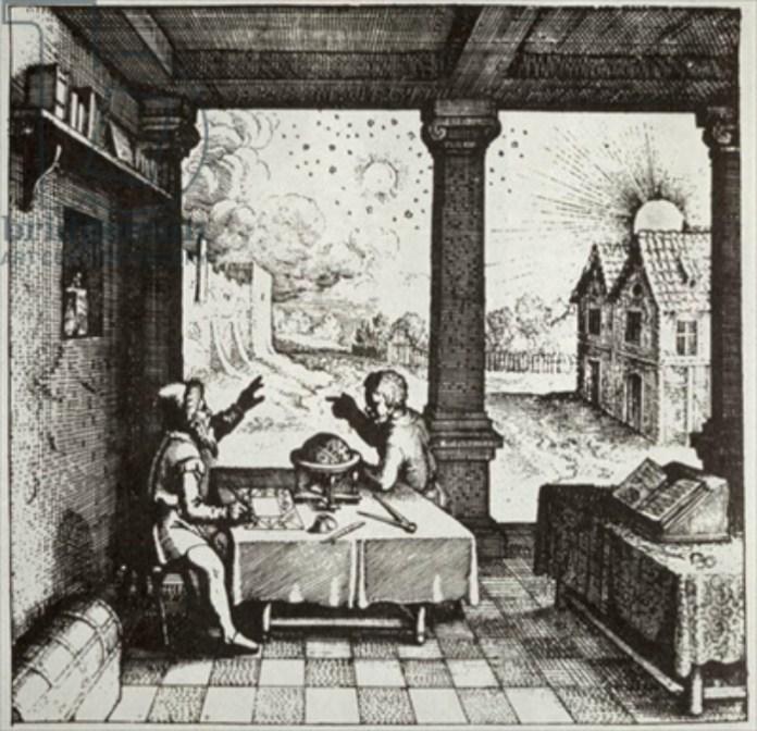 Астрологи складають гороскоп. Фото з http://www.xovain.com