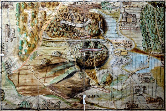 Власність сестер Бенедиктинок на карті долини річки Зубра.