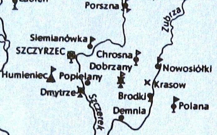 Карта - шкіц (Щирецьке війтівство)