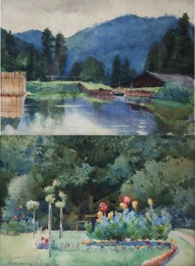 Антоні Стефанович Зверху – «Риманів. Ехо»; знизу – «Парк в Чернівцях»