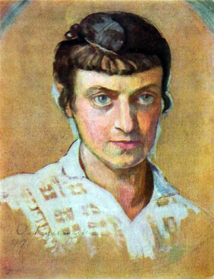 Олена Кульчицька. Автопортрет. Олія. 1917
