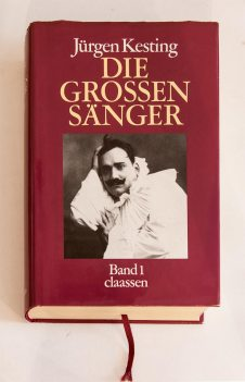 Обкладинка першого тому Jűrgen Kesting. Die grossen Sänger. Dűsseldorf. Claаssen Verlag, 1986