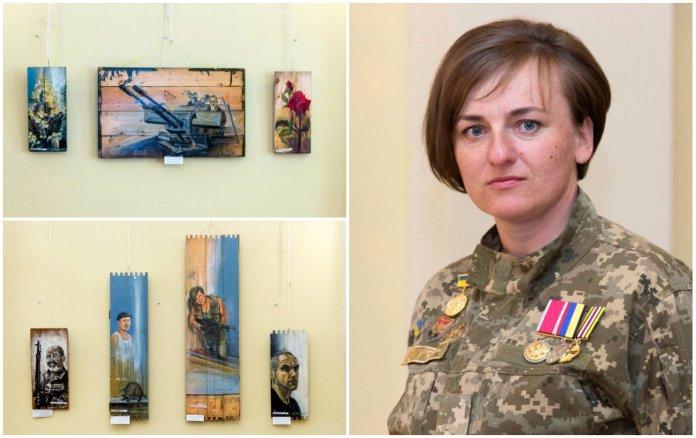 «Фронтові замальовки» Світлани Луців (Логуш) показали у Львові